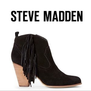 Steve Madden Cian suede booties with fringe